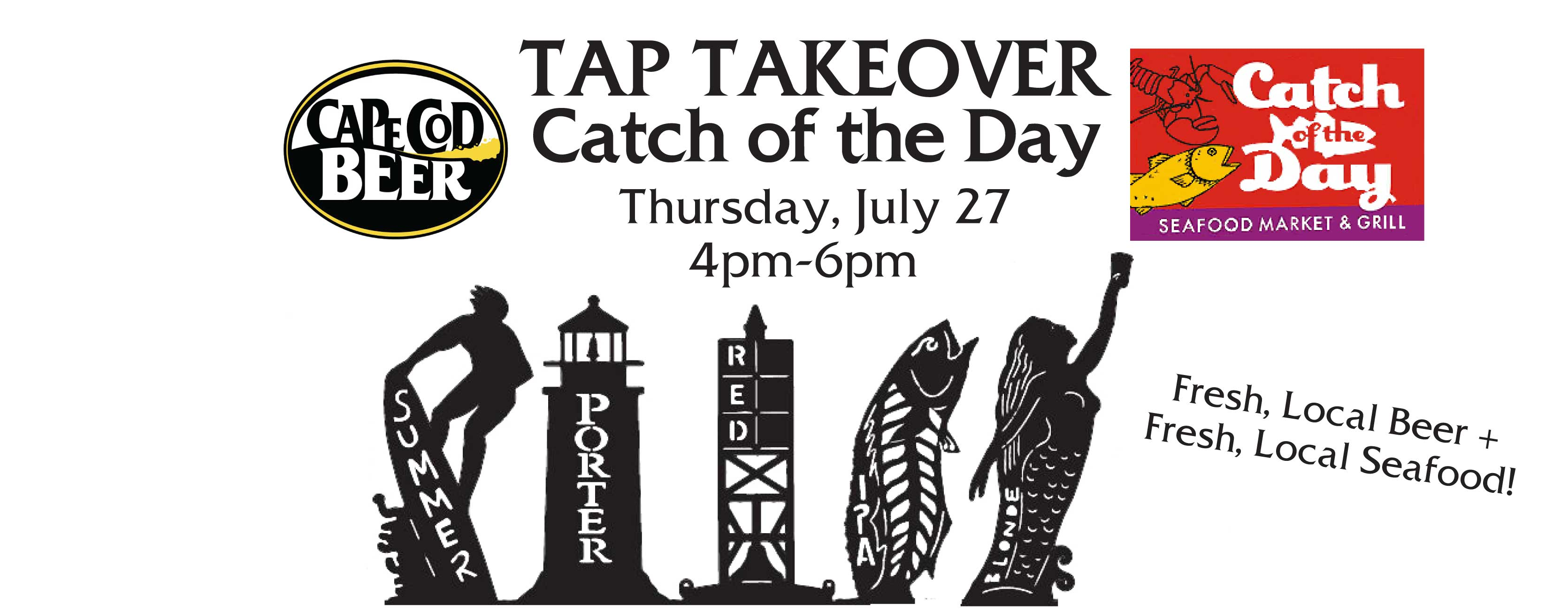 Cape Cod Beer Catch of the Day Tap Takeover