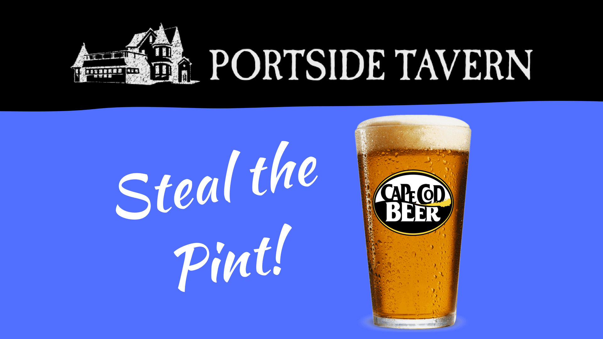 Cape Cod Beer Portside Tavern Steal the Pint