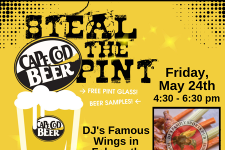 OUTSIDE EVENT: Steal the Pint at DJ's Famous Wings in Falmouth